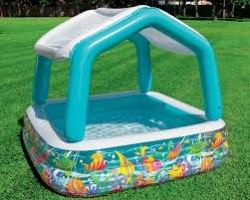 Детский надувной бассейн с крышей Intex Sun Shade 157x157x122 (57470)