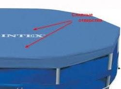 Тент-чехол для каркасного бассейна Intex (58406/28030) 305 см