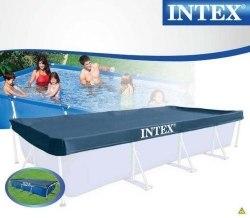 Тент-чехол для каркасного бассейна Intex (28039) 460x226см