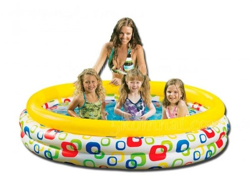Маленький детский бассейн Intex Wild Geometry Pool 114x25 (59419)