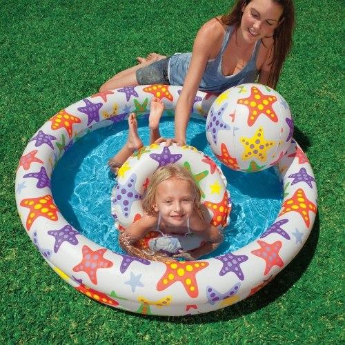Детский игровой бассейн Intex Stars 122х25 (59460)