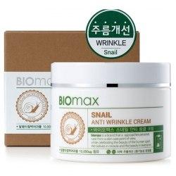 Biomax Snail Anti-Wrinkle Cream Крем с экстрактом слизи улитки против морщин Biomax