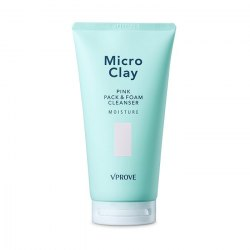 VPROVE Micro Clay Pink Pack & Foam Cleanser Moisture Маска-пенка с розовой глиной, увлажняющая VPROVE