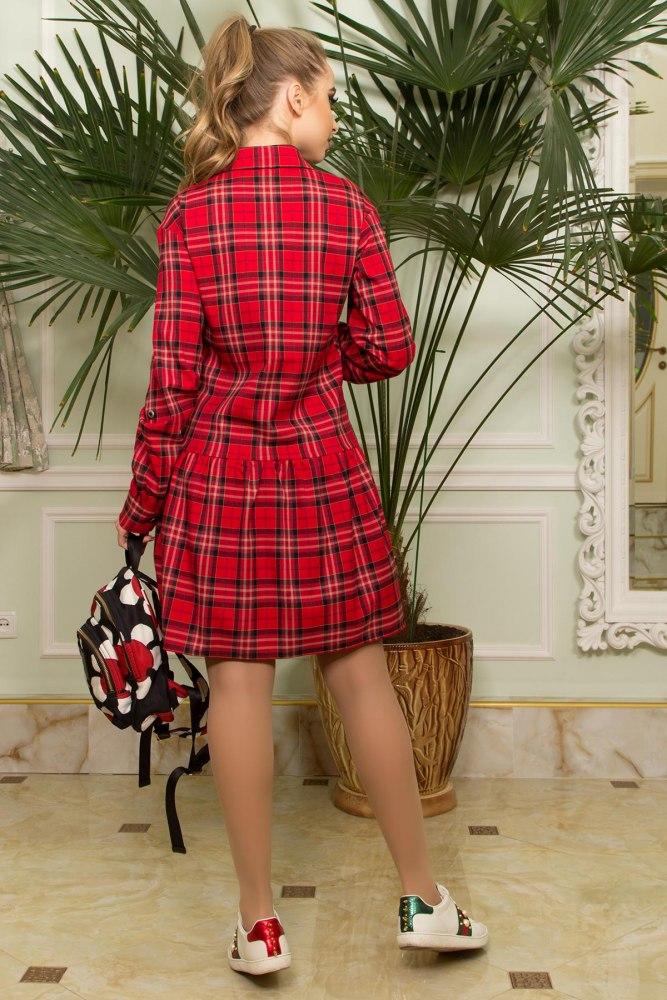 ad5fb1fc7a4 Купить платье-рубашку в клетку недорого