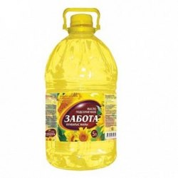 Масло подсолнечное рафинированное Забота 5 литров