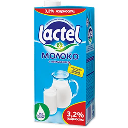 Молоко 3,2 % Lactel 1 л.