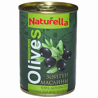 Маслины черные без косточки Naturella 280 гр.