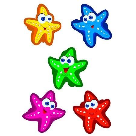 """Набор мини-ковриков для ванны """"Морские звезды"""" (на присосах), 5 шт"""