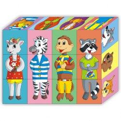 "Кубики детские ""Собирайки Животные"" 12шт"