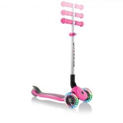 Самокат трехколесный Globber Primo Foldable Lights (розовый)