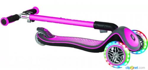 Самокат трехколесный Globber Elite Deluxe Lights (розовый)