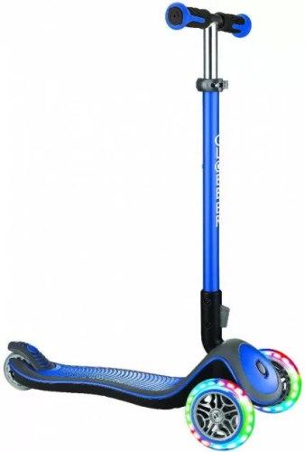 Самокат трехколесный Globber Elite Deluxe Lights (синий)