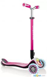 Самокат трехколесный Globber Elite Prime (розовый)
