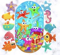 """Набор """"Морские звёздочки в океане"""" большой коврик + 10 мини-ковриков"""