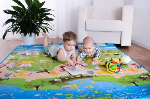 """Коврик """"Сказочное Путешествие"""" или """"Веселые всезнайки"""" 180 на 150 см двухсторонний BabyPlay"""