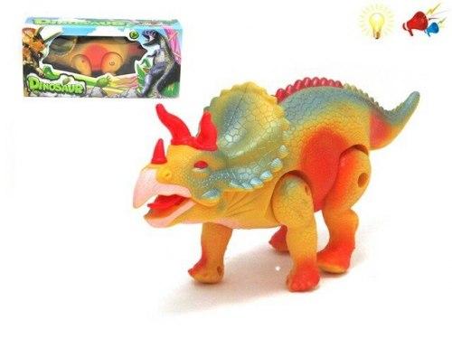 Динозавр трицератопс на батарейках