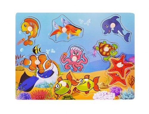 Пазл-вкладыш Подводные обитатели океана