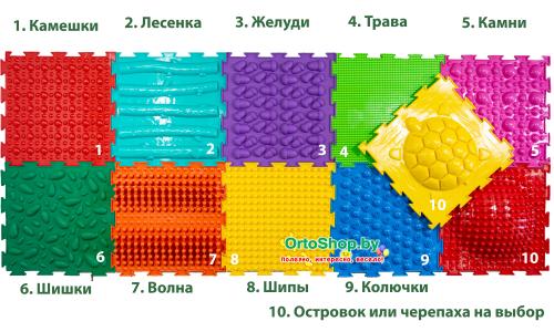 "Коврик ""ОРТО"" Микс 10 пазлов ""Ассорти"" Ортодон + подарок"