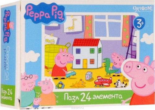 Мини-пазлы Peppa Pig 24 элемента в ассортименте. Origami