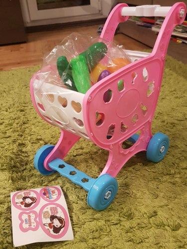 """Игровой набор Тележка """"Супермаркет"""" с продуктами """"Овощи и фрукты"""""""