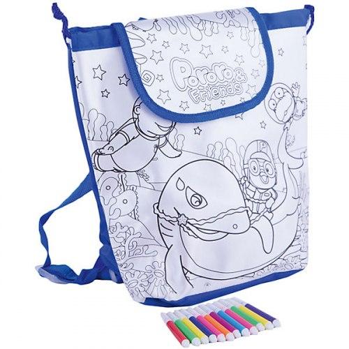 Пороро. Сумка - рюкзак для раскрашивания, 31х30х12см. Origami