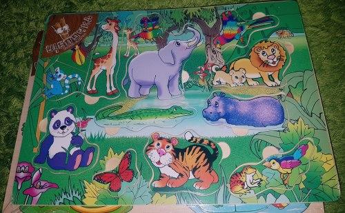 Пазл-вкладыш В джунглях Африки