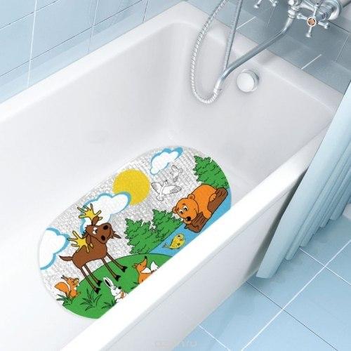 Коврик для ванны Valiant Животные Африки на присосках 69x39см VALIANT