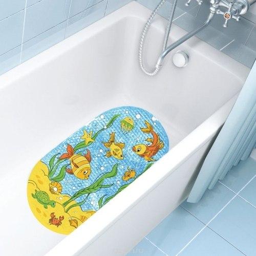 Коврик на дно ванны Лягушата Valiant на присосках, размер 69х39 см VALIANT