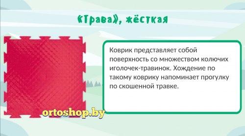 """Коврик ОРТО """"Трава Твёрдая"""" твёрдый элемент"""