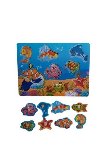 Пазл-вкладыш Подводные обитатели