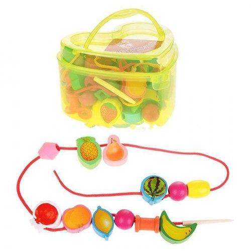 Шнуровка фрукты в чемоданчике