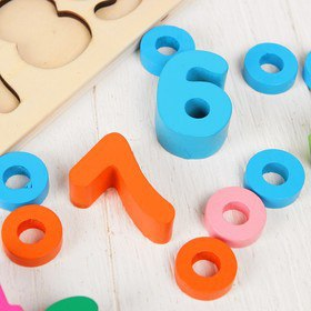 "Набор для развития логики и счёта ""Учим цифры и цвета"""