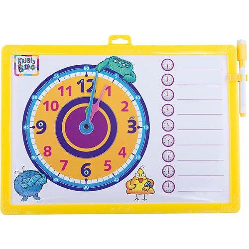 Доска-часы двусторонняя, с маркером Kribly Boo