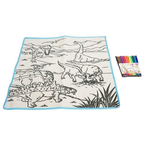 Коврик- многоразовая раскраска 80*80 см Мир Динозавров Kribly Boo