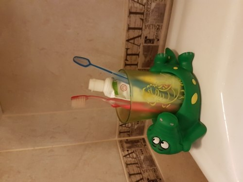 Подставка со стаканом для зубных щеток Лягушата Valiant VALIANT