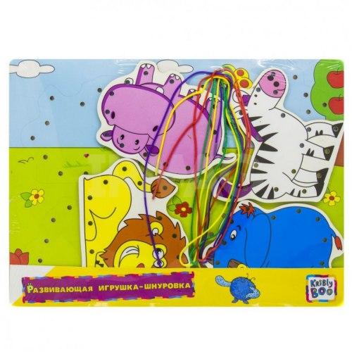 Развивающая игрушка-шнуровка Африка Kribly Boo