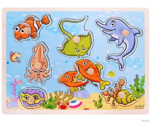 Пазл-вкладыш Под водой