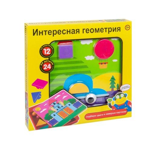 """Мозаика для малышей пуговки """"Интересная геометрия"""" 24 детали"""