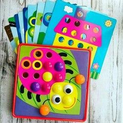 """Мозаика для малышей """"Веселые пуговки"""" 46 деталей"""