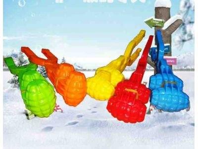 """Снежколеп в форме гранаты """"Зимние забавы"""", двойной, большой"""