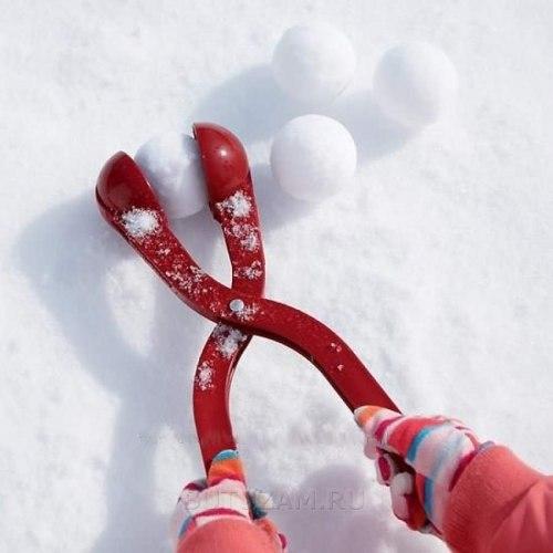 """Двойной большой """"Снежколеп"""" для лепки снежков 7см"""
