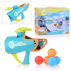 Бластер 2 в 1: для стрельбы снежками и пластмассовыми мячами