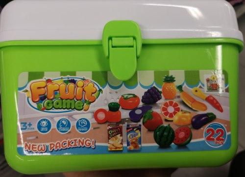 """Игровой набор на липучках 21 предмет для пикника """"Огород"""" в чемодане"""