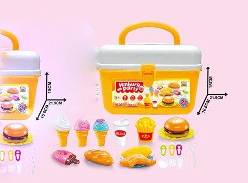 """Игровой набор на липучках 21 предмет для пикника """"Сладости"""" в чемодане"""