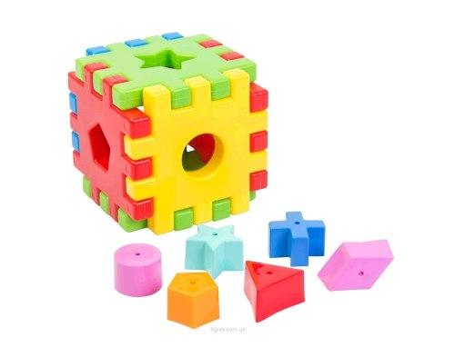 """Игрушка развивающая сортер """"Волшебный куб"""" 12 элементов"""