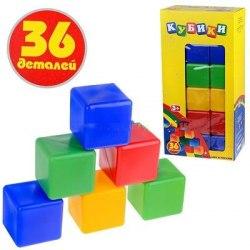 """Набор из 36 больших кубиков """"Маленький строитель"""""""