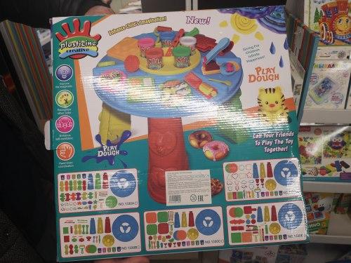 """Большой набор для детской лепки (детского творчества) пластилин, столик для лепки, формочки """"Магазин печенья"""""""