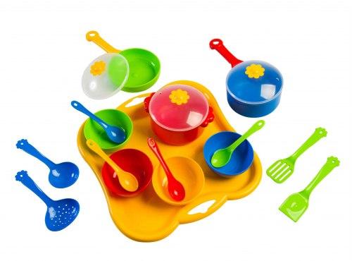 Набор игрушечной посуды Ромашка 19 элементов