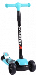 """Трехколесный детский самокат"""" Scooter X"""" голубой Malibu"""