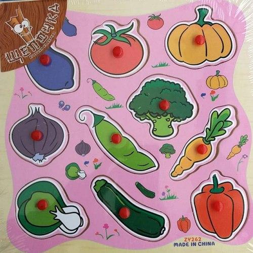 Пазл-вкладыш Овощи с грядки Kribly Boo